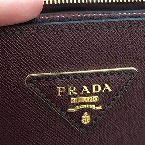 236f40e545e9 Prada Bags - New Prada Saffiano Paradigme City Tote burgundy